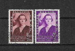 BELGIO - 1937 - N. 457A/57B USATI (CATALOGO UNIFICATO) - Belgium