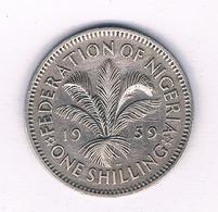 ONE SHILLING 1959 NIGERIA /5496/ - Nigeria