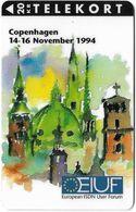 Denmark - KTAS - Eiuf Conference - TDKP115 - 11.1994, 2.000ex, 20kr, Used - Danemark