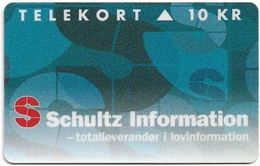 Denmark - KTAS - Schultz Information - TDKP149 - 05.1995, 10kr, 1.000ex, Used - Danemark