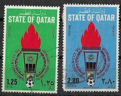 QATAR 1981-Military Football Championship, Set Of 2-USED S.G. 715-716, Cat £ 20-Used - Qatar