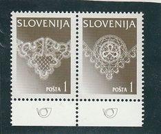 Slovenia Idria Lace  Set Type III/IV Rare Flourescent Overprint 1997 MNH ** - Slovénie