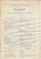Récupération Du Matériel Militaire ,tarif Des Primes Allouées , 1918 , 2 Scans - Dokumente