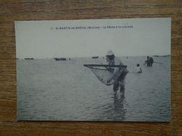 Réédition , Cartes D'autrefois , St-martin-de-bréhal , La Pêche à La Crevette - Other Municipalities