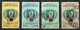 Qatar 1979 Qatar Sheik Khalifa Bin Hamad Al-Thani Anniversary Amirs Accession Used - Qatar
