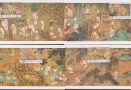 """TAIWAN 1981, """"100 Boys"""", Serie MAXICARDS FDC, Cards Unused - 1945-... République De Chine"""