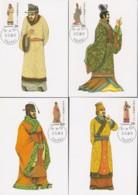 "TAIWAN 1988, 1990, ""National Costumes"", 2 Series MAXICARDS FDC + Series FDcancels, Original Gum Never Hinged - 1945-... République De Chine"