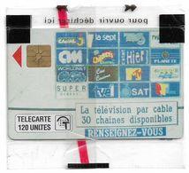 Monaco - MF13 - Télé Cablée - Gem1A Symmetr. Black, 01.1991, 120Units, 20.000ex, NSB - Monaco