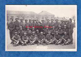 Photo Ancienne - LIMOGES - Caserne Beaublanc - 1948 - Soldat & Officier Casque Uniforme Fusil - J. Lacan - Guerra, Militares