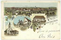 Unteröwisheim Ansichtskarte Lithografie 31 Dezember 1900 Karlsruhe - Karlsruhe