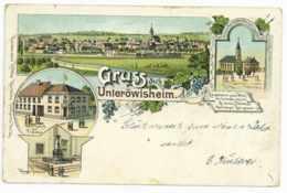 Unteröwisheim Ansichtskarte Lithografie 31 Dezember 1900 Karlsruhe Kraichtal - Karlsruhe
