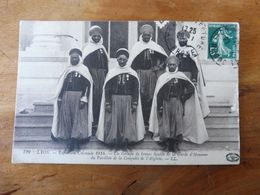 Timbre Spécial Au Dos  1914 Un Groupe De Braves Spahis De La Garde D'Honneur Du Pavillon De La Conquête De L'Algérie - War 1914-18