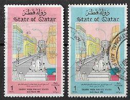 1985 Traffic Week. Crossing The Road Complete Set Used - Qatar