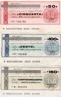 MINI ASSEGNO - LA BANCA BELINZAGHI 50,100,150 LIRE CIRC. - [10] Scheck Und Mini-Scheck