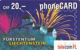 Liechtenstein, LI-01B, Fürstentum Liechtenstein - Vaduz Castle, 2 Scans. - Liechtenstein