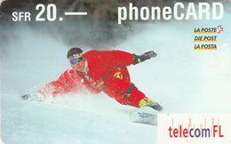 Liechtenstein, LI-02A, Snowboarder, 2 Scans. - Liechtenstein