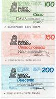 MINI ASSEGNO - BANCO LARIANO 100,150,200 LIRE UNC - [10] Scheck Und Mini-Scheck