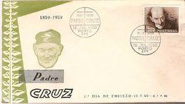 Portugal & FDC Tribute To Padre Cruz 1859-1959, Lisbon 1960 (861) - Christentum