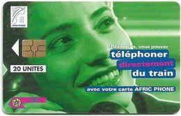 Morocco - Afric Phone - Telephoner Du Train (Green), Gem5 Red, 20Units, Used - Maroc