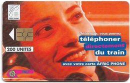 Morocco - Afric Phone - Telephoner Du Train (Red), Gem5 Red, 200Units, Used - Maroc
