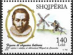 2016  Albanien  Mi. 3538**MNH   400. Todestag Von Miguel De Cervantes - Albania
