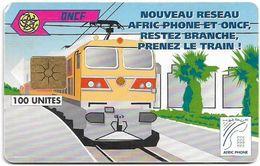 Morocco - Afric Phone - Train #1, Gem1B Not Symmetr. White-Gold, 100Units, Used - Maroc