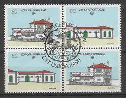 Portugal  1990 Mi.Nr. 1822 / 1823 , EUROPA CEPT Postalische Einrichtungen - Gestempelt / Fine Used / (o) - Europa-CEPT