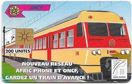Morocco - Afric Phone - Train #2, Gem1B Not Symmetr. White-Gold, 200Units, Used - Maroc