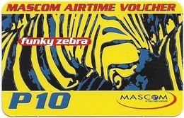 Botswana - Mascom - Funky Zebra, (Emergency Services), Exp. 17.12.2005, GSM Refill 10P, Used - Botswana