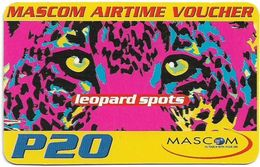 Botswana - Mascom - Leopard Spots, (Emergency Services), Exp. 02.11.2004 GSM Refill 20P, Used - Botswana