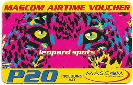 Botswana - Mascom - Leopard Spots, (Faxmail), Exp. 17.08.2005, GSM Refill 20P, Used - Botswana
