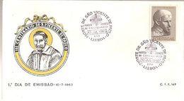 Portugal & FDC III Centenary Of São Vicente De Paulo, Lisbon 1963 (6884) - Christentum