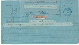 Télégramme Reims-> Bordeaux,  C. Bordeaux Central 1882 + REPONSE PAYEE Bleu - Marcophilie (Lettres)