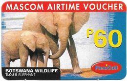 Botswana - Mascom - Wildlife Series - Elephant, GSM Refill 60P, Used - Botswana
