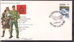 Australia - 1971 - FDC - Royal Australian Air Force - 1921/1971 - Cygnus - Militaria