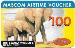Botswana - Mascom - Wildlife Series - Elephant, GSM Refill 100P, Used - Botswana