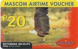 Botswana - Mascom - Wildlife Series - Fish Eagle, GSM Refill 20P, Used - Botswana