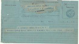"""Télégramme Bordeaux -> La Rochelle, Cad Bleu Avec """"T"""" Dans Le Dateur 1894 - Marcophilie (Lettres)"""