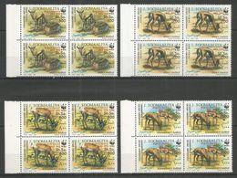 4x SOMALIA - MNH - Animals - Wild Animals - 1992 - WWF - Overprint - Sellos