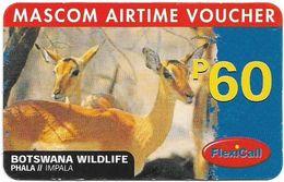 Botswana - Mascom - Wildlife Series - Impala, GSM Refill 60P, Used - Botswana