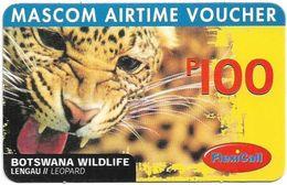 Botswana - Mascom - Wildlife Series - Leopard, GSM Refill 100P, Used - Botswana