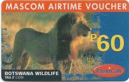 Botswana - Mascom - Wildlife Series - Lion, GSM Refill 60P, Used - Botswana