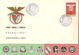 Portugal & FDC Sport Lisboa E Benfica, European Champion Clubs' Cup 1961-1962, Lisbon 1963 (8822) - FDC
