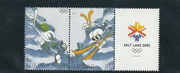 Slovenia Olympic Games Salt Lake City Skiing Sledge 2002  MNH ** - Slovénie
