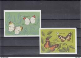 Gambia Michel Cat.No. Mnh/** 1944/1951 + Sheet 235/236 Butterfly - Gambie (1965-...)