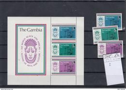 Gambia Michel Cat.No.  Mnh/** 336/338 + Sheet 3 - Gambie (1965-...)
