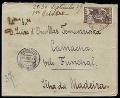 Portugal - XX. 1937. Lisbon - Madeira / Sta Cruz - Camacha. Fkd Env / Arrival Cds On Front. Occasion! - Portugal