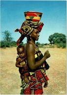 CPM Afrique (Bangui ?) Afrique En Couleur. Jeune Maman Et Son Enfant - Postcards