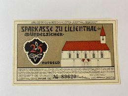 Allemagne Notgeld Lilienthal 25 Pfennig - [ 3] 1918-1933 : République De Weimar