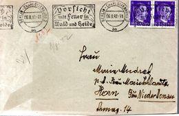 """LETTRE 1942 - OBLIT. MECANIQUE : """"DORFICHT, VILLAGE DANS LA FORET ET LA BRUYERE"""" - - Brieven En Documenten"""
